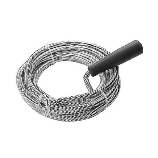 thông cống nghẹt bằng dây lò xo thông cống